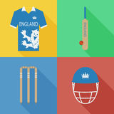 Icônes de cricket de l'Angleterre Images stock