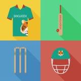 Icônes de cricket du Bangladesh Images stock