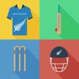 Icônes de cricket du Nouvelle-Zélande Photos libres de droits
