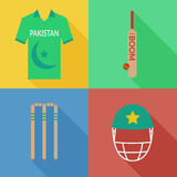 Icônes de cricket du Pakistan Image stock