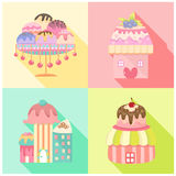 Icônes de crème glacée réglées Image libre de droits