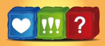 Icônes de cube en vecteur Images libres de droits