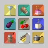 Icônes 2 de cuisine Photos stock