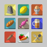 Icônes de cuisine Images stock