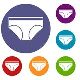 Icônes de culottes de sous-vêtements de femme réglées Photos libres de droits