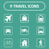 Icônes de déplacement et de transport pour le Web et l'APP mobile Photographie stock libre de droits