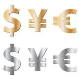 Icônes de devise illustration libre de droits