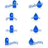 Icônes de diabète Images stock