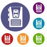 Icônes de dictaphone réglées Images stock