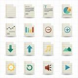 Icônes de document Image libre de droits