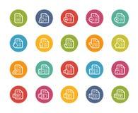 Icônes de documents - 1 de 2 -- Série de Printemps Images libres de droits