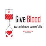 Icônes de don du sang Images stock