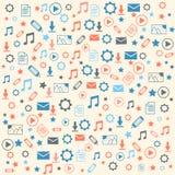 Icônes de données sur le fond blanc Image libre de droits