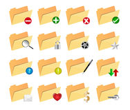 Icônes de dossier illustration stock