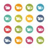 Icônes de dossier - 2 -- Série fraîche de couleurs Images libres de droits
