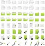 Icônes de dossiers Image stock