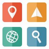 Icônes de déplacement d'emplacement Image stock