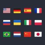 Icônes de drapeaux de pays illustration libre de droits