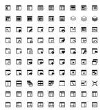 Icônes de fenêtre d'application Images libres de droits