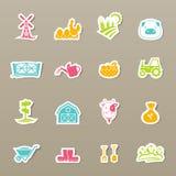Icônes de ferme réglées Image stock