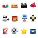 Icônes de film Photographie stock libre de droits