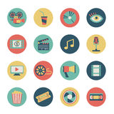 Icônes de film Images stock