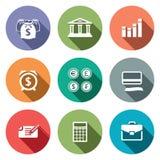 Icônes de finances d'argent réglées Photo libre de droits