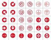 Icônes de flèches réglées Image libre de droits