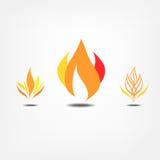Icônes de flamme Photos stock