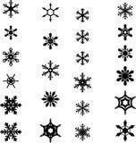 Icônes 2 de flocon de neige Photo libre de droits