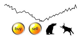 Icônes de forex ou de marchés à terme Photo stock