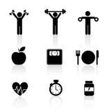 Icônes de forme physique Image libre de droits