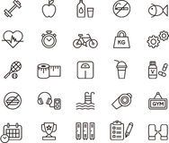 Icônes de forme physique et de soins de santé Photo libre de droits