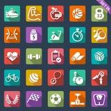 Icônes de forme physique et de sport Images stock