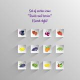 Icônes de fruit Photos libres de droits