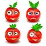Icônes de fruit avec des émotions Image libre de droits