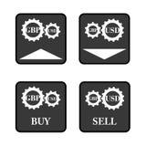 Icônes de GBP USD Photographie stock libre de droits