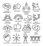 Icônes de gestion d'entreprise dans la ligne style Paquet 16 Photo libre de droits