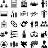 Icônes de gestion des ressources de Huma illustration de vecteur