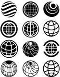 Icônes de globe Images libres de droits