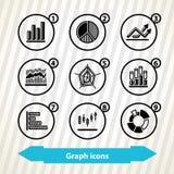 Icônes de graphique Images stock