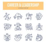Icônes de griffonnage de carrière et de direction illustration stock