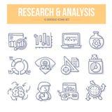 Icônes de griffonnage de recherches et d'analyse illustration libre de droits