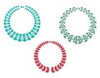 Icônes de guirlande illustration stock