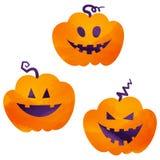 Icônes de Halloween/cric-o-lanterne Photos stock