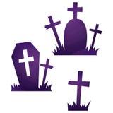 Icônes de Halloween/tombe Photo libre de droits
