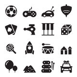 icônes de jouet de silhouette Photo libre de droits
