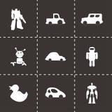 Icônes de jouets de vecteur réglées Images stock