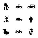 Icônes de jouets de vecteur réglées Images libres de droits
