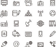 Icônes de journalisme et de media Images stock